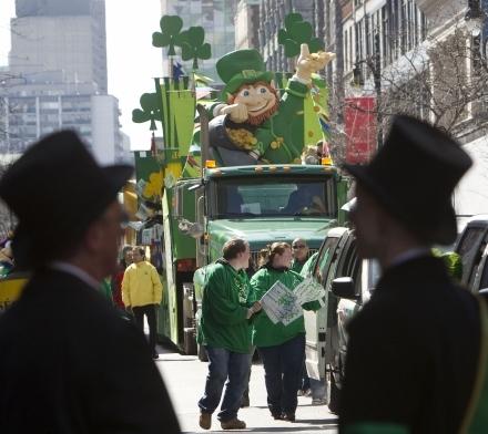 Leprechaun au défilé de la St Patrick