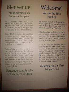 Message des Premiers Peuples