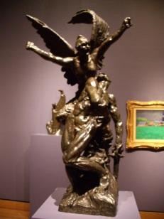 Auguste Rodin, La défense ou L'appel aux armes. Un signe ?