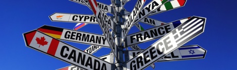 Panneaux routes du monde