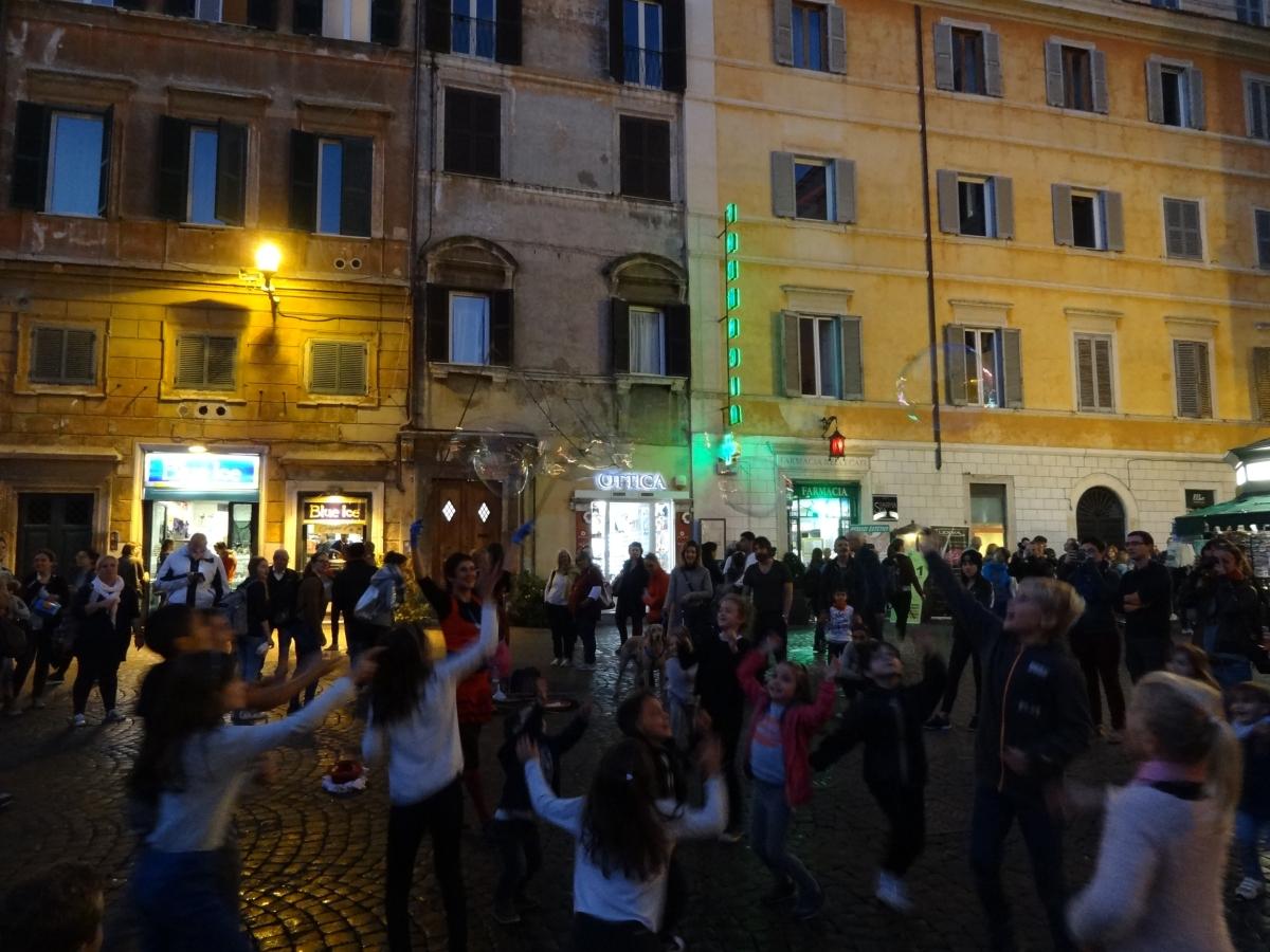 Bulles de joie à Trastevere