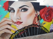 Street art flamenco - Malaga