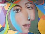 Street art visage - Malaga