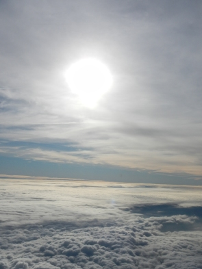 Sky over the clouds