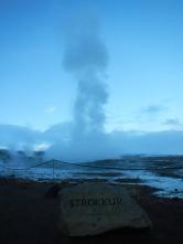 Strokkur geysir éruption